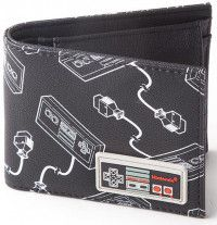 Кошелек Difuzed: Nintendo: NES Controller AOP Bifold Wallet With Rubber Patch